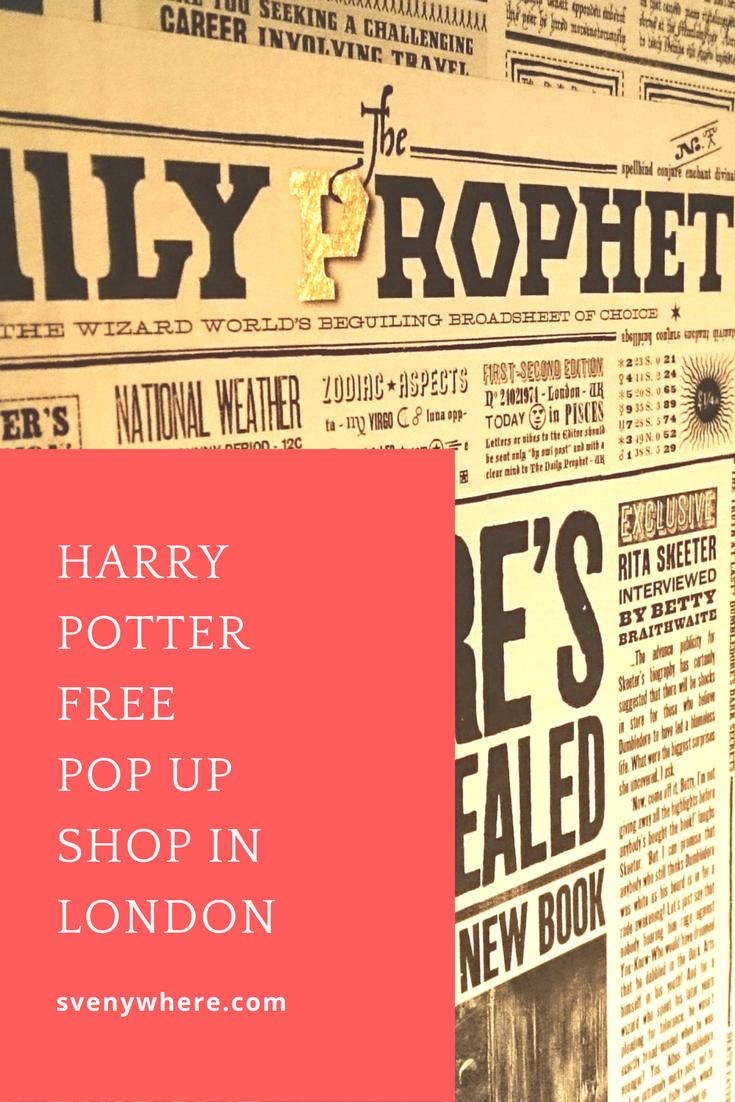 Harry Potter pop up shop