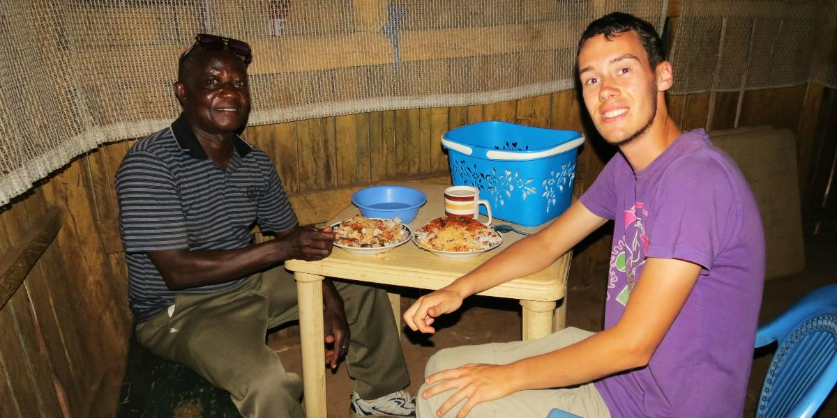 Rat dish in Ghana