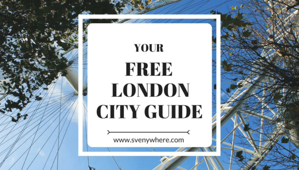 A FREE London Guide Book for you (Normally $15,-)