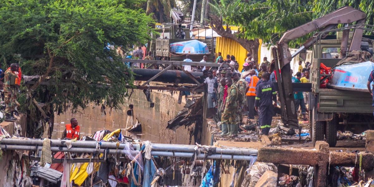 Accra overstromingen
