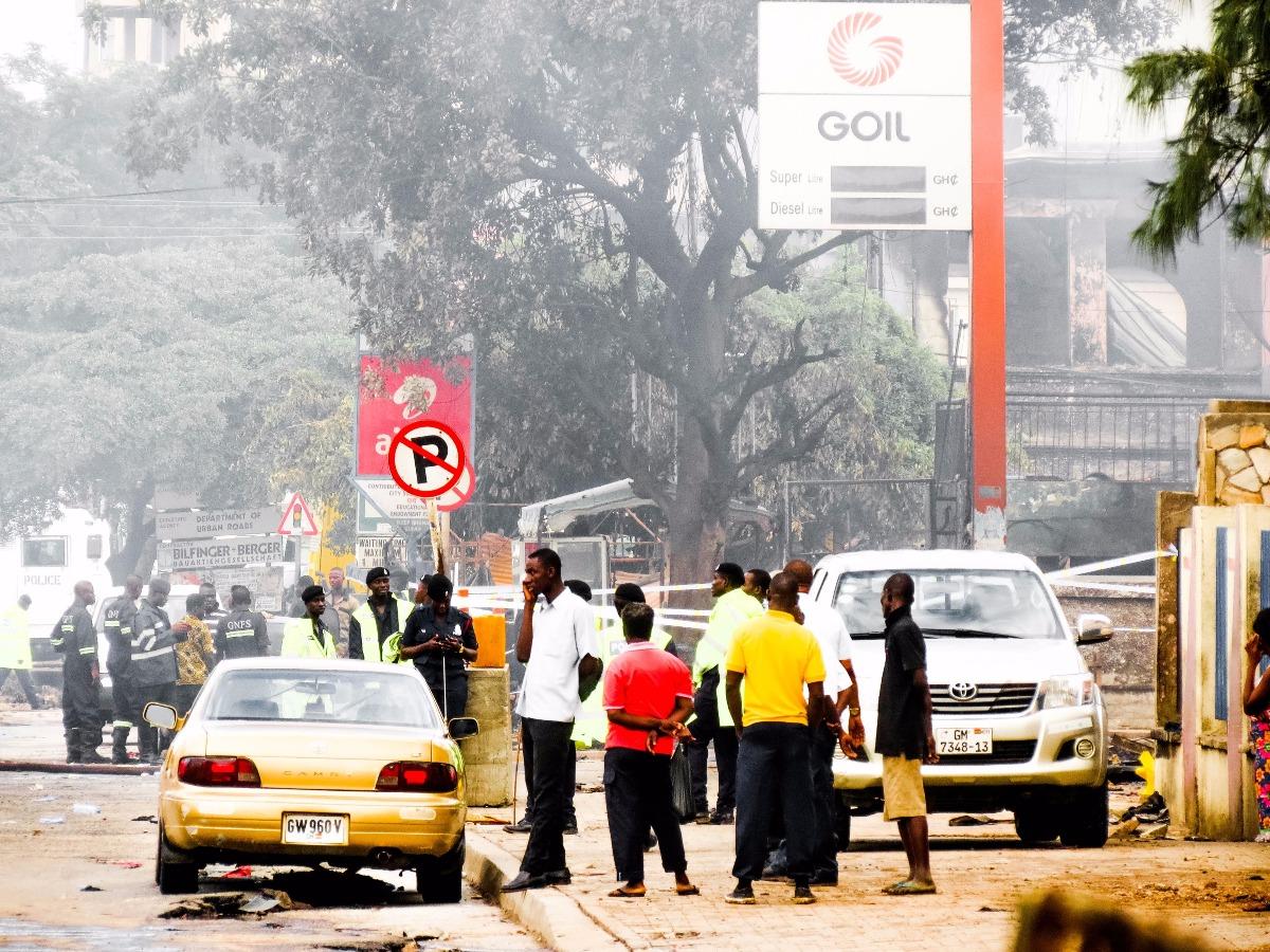 Ghana tank station ontploft