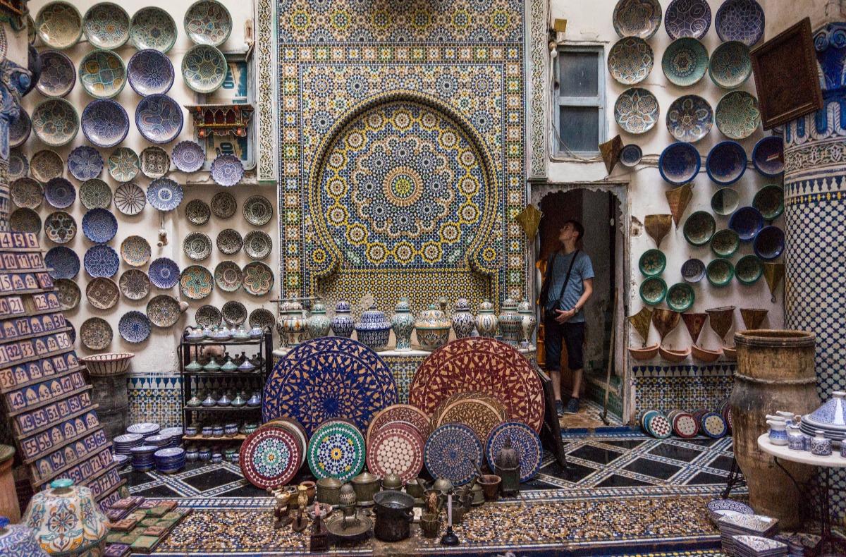 Winkel in Marokko